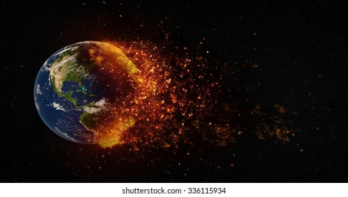 Planet Earth Apocalypse Concept. Elements of this image furnished by NASA.