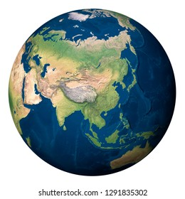 Planet Earth, Asia - Elements of this image furnished by NASA
