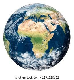 Planet Earth with clouds, Africa - Elements of this image furnished by NASA