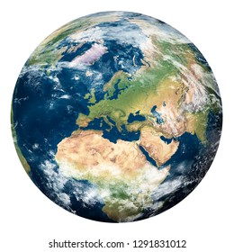 Planet Earth with clouds, Europe and part of Asia and Africa - Elements of this image furnished by NASA