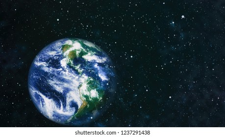 Planet Earth. Eastern hemisphere. This image elements furnished by NASA.