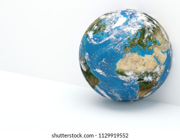 the planet earth. elements of this image furnished by NASA 3d-illustration