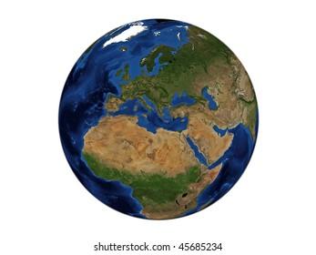 Planet Earth - Europe, Data Source: NASA