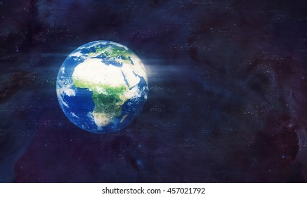 Planet Earth Global Hologram - Virtual Reality Technology (Elements of this image furnished by NASA)