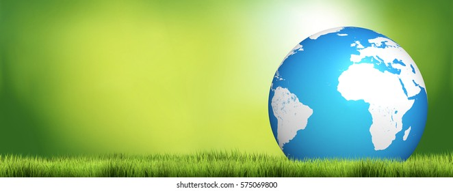 planet earth nature green blue 3d render design. Elements of this image furnished by NASA.