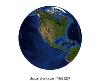 Planet Earth - North America, data source: NASA