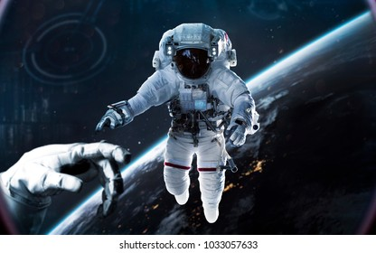 Planet Earth. Science fiction, exploration of space. Elements of this image furnished by NASA