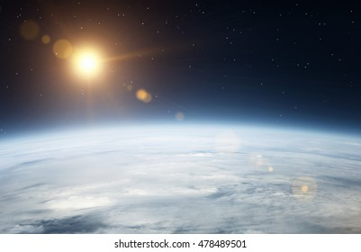 Planet earth seen from the space
