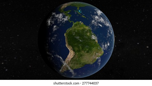 Planet Earth South America 3D Globe - Elements of this image furnished by NASA