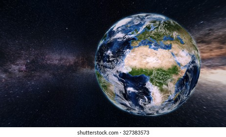 Planet Earth From Space - 3D Render (Elements of this image furnished by NASA)