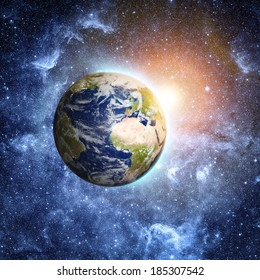 planet earth in space Elements of this image furnished by NASA