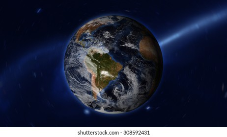 Planet Earth Space - (Elements of this image furnished by NASA)