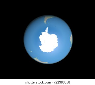 Planet Earth from space showing South Pole. Elements of this image furnished by NASA.