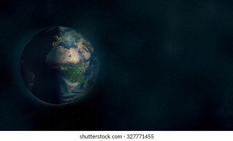 Planet Earth Sunrise Background. Elements of this image furnished by NASA.