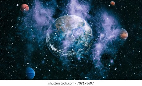 Planet Earth. This image elements furnished by NASA