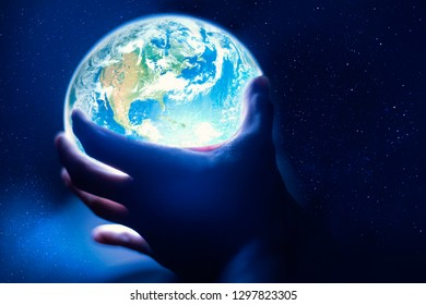 The planet earth in your hands