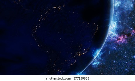 Planet Earth's Galactic Energy Effect (Elements of this image furnished by NASA)