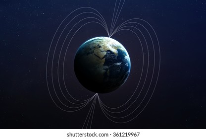 Planet Earth's magnetic field. This image elements furnished by NASA.