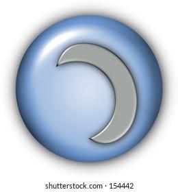 Planet Glyphs Button - Moon