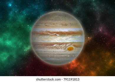 Planet Jupiter in outer space. Elements of this image furnished by NASA