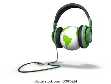 Planet listening to music