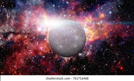 Planet Mercury. Elements of this image furnished by NASA.