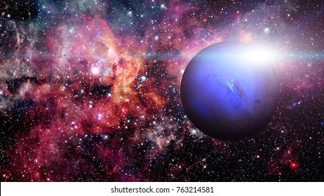 Planet Neptune. Elements of this image furnished by NASA.