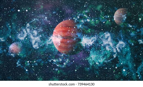 planet in the night sky space star - Elements of this Image Furnished by NASA