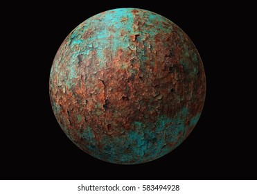 planet on black background