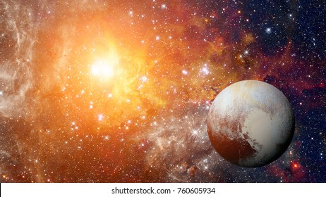 Planet Pluto - solar system planet. Elements of this image are furnished by NASA.
