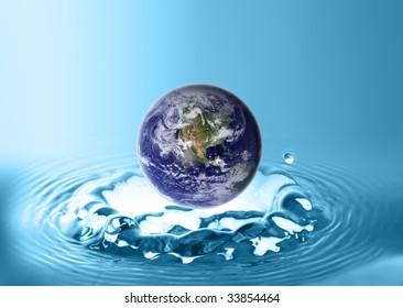 planet under water