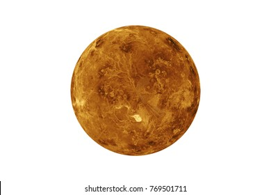 Planet Venus isolated on white. Elements of this image are furnished by NASA