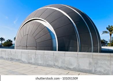 planetarium dome in Bibliotheca Alexandrina in Alexandria, Egypt