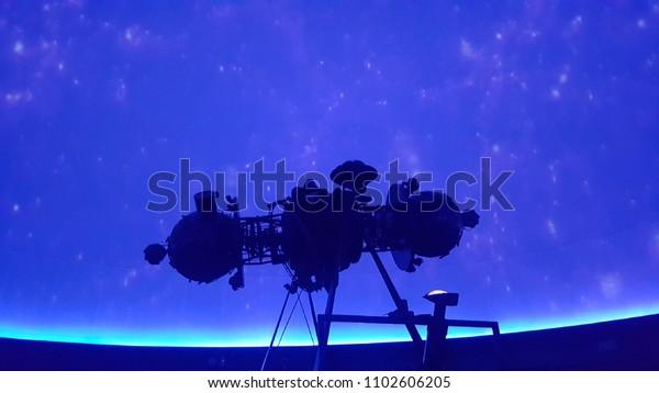 Planetarium Projector Star Projector Stock Photo (Edit Now