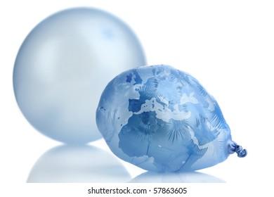 Planeth Earth as a shrinking balloon