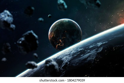 Planets in deep space. This image elements furnished by NASA