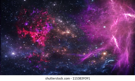 Planets and galaxy, science fiction wallpaper. Beauty of deep space. Billions of galaxy in the universe Cosmic art background