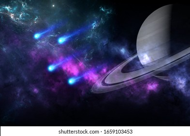 Planets and galaxy, science fiction wallpaper. Astronomy is the scientific study of the universe stars, planets, galaxies, and everything in between