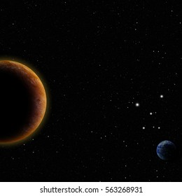 planets in open space. Elements of this image are furnished by NASA