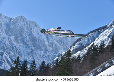 PLANICA, SLOVENIA - MARCH 17 2016 : Fis World Cup Ski Jumping Final -   Peter PREVC -SLO Slovenija