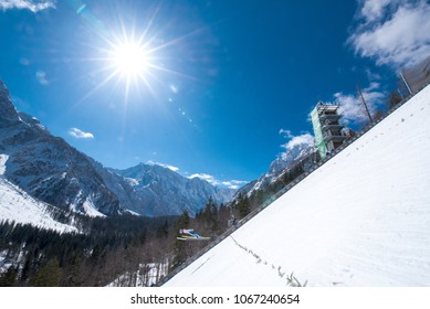 PLANICA, SLOVENIA - MARCH 24 2018 : Fis World Cup Ski Jumping Final