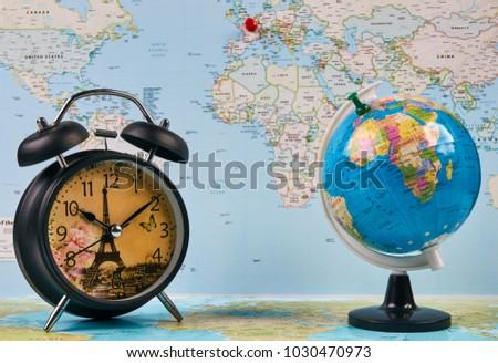 Planing Travel France Paris Worldmap Globe Stock Photo (Edit Now ...