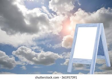 Plank white background blur clear sky Resort