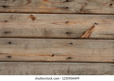 Plank wood background texture. Natural surface. Construction wooden wall with Nails