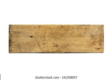 Plank wood isolated on white background