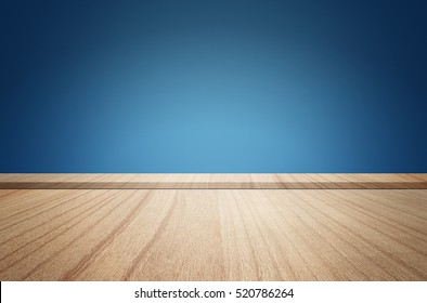 Plank wood on room interior with pastel tone concrete background. Suitable use for montage or made your marketing product.