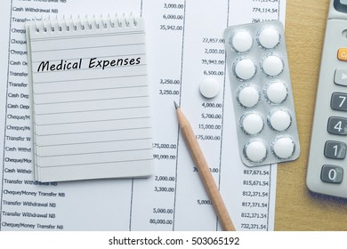 Planning Medical expenses, Finance concept