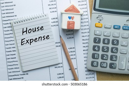 Planning monthly House expense, Finance concept
