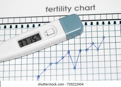 Planning of pregnancy. The fertility chart. Selected focus