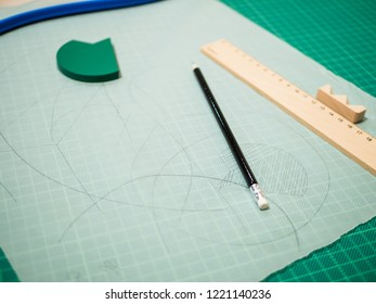 Planning: Transparent Paper and planning supplies. Ruler, pencil